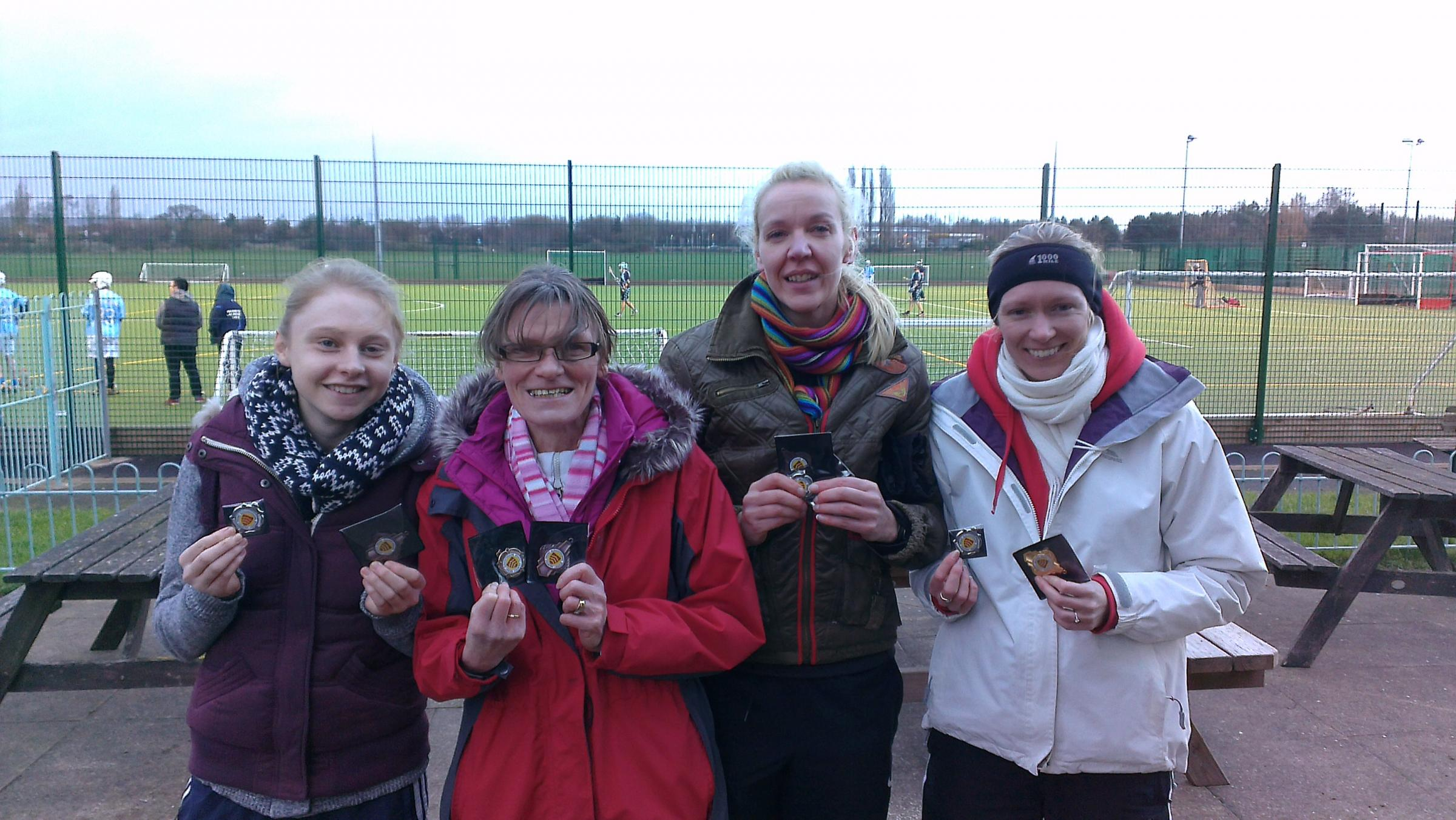 Bromsgrove and Redditch's Sally Hogan, Charlotte Ball, Melanie Hepke and Tamara Ball.