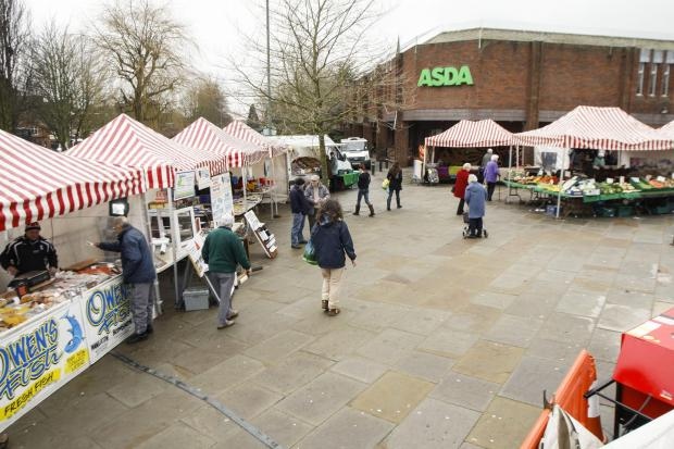 NEW HOME: Bromsgrove's market has been held for the first time at a new temporary location, near ASDA, today.
