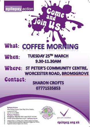 EPILEPSY: Local mum Sharon Crofts has organised a coffee morning for Epilepsy Action. SP