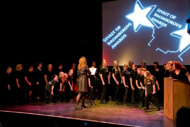 SPIRIT OF BROMSGROVE: Songstars Show Choir provided musical entertainment at the Spirit of Bromsgrove Awards. SP