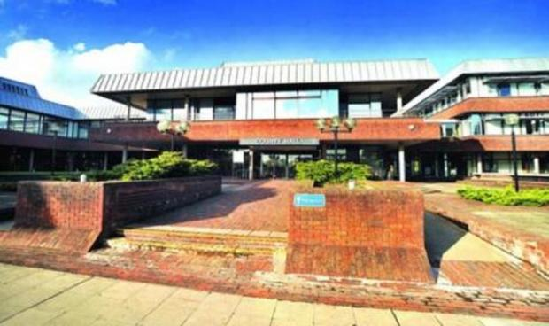 Bromsgrove Advertiser: County Hall, the HQ of Worcestershire County Council
