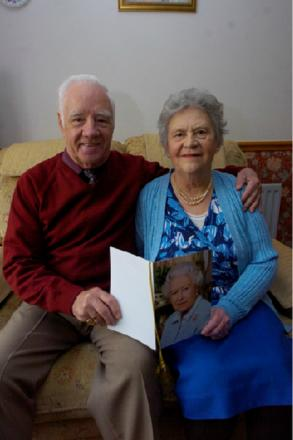 Fred and Esther Burford have been celebrating their diamond wedding anniversary.   Buy this photo BMM121401a