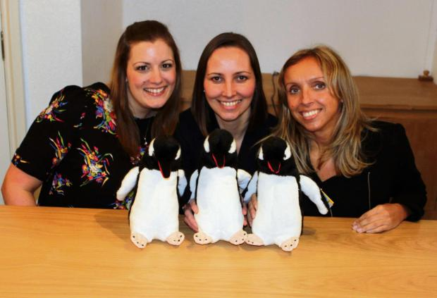 Gough Bailey Wright's Sea Life team Laura Quigley, Ali Barr and Michelle Simpson
