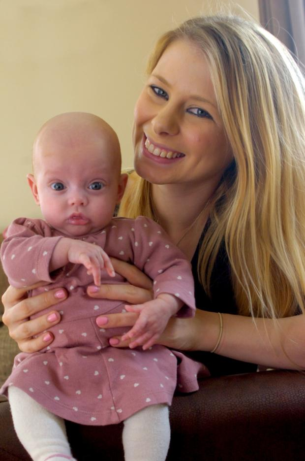 Bromsgrove Advertiser: Sam Merrell with her daughter Maisie