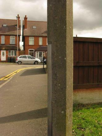 'NO DANGER': Sidemoor residents have been reassured that a cracked lamppost poses no danger. SP