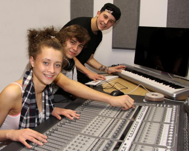 Taylor Blower, Zak Heitmann and Curtis Stanley prepare for the Pop Academy