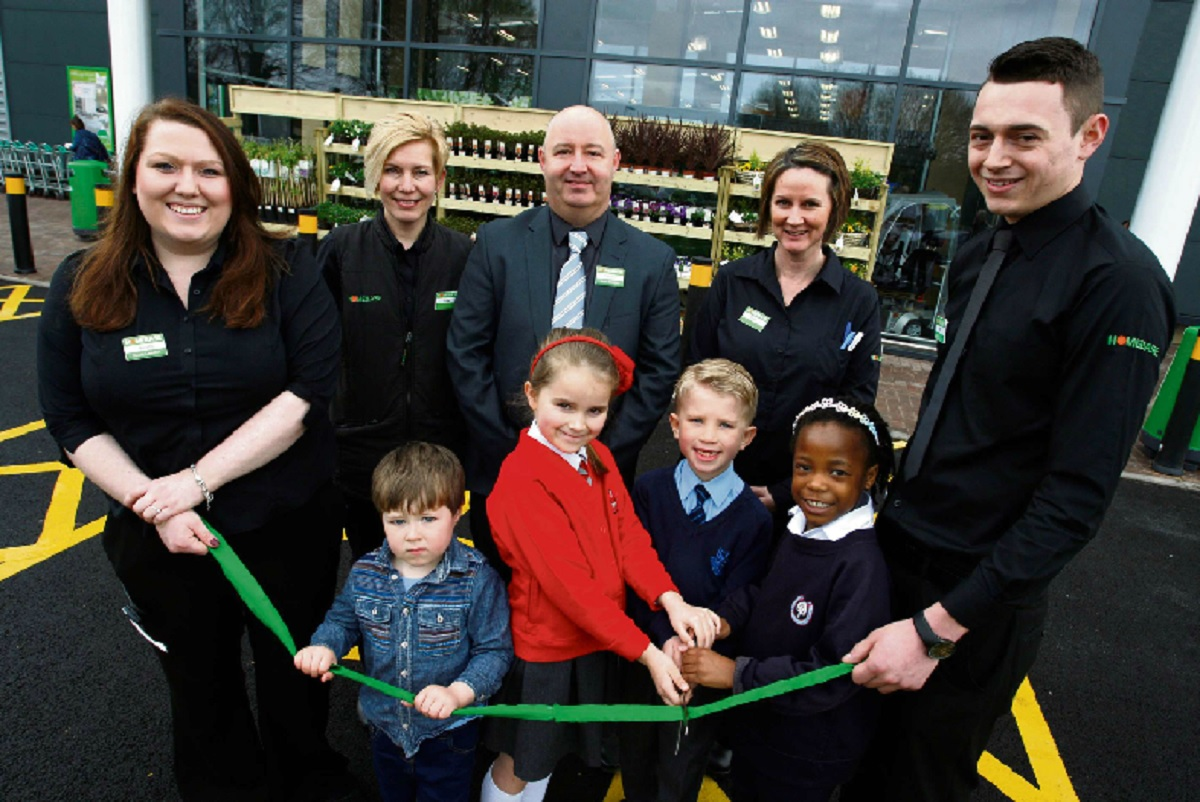 The brand new Homebase store in Bromsgrove was opened by town youngsters on Friday.   Buy this photo BCR151412_01