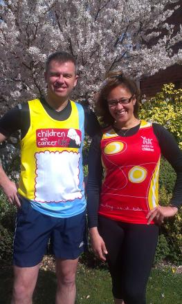 BEST FOOT FORWARD: Bromsgrove residents Daniel Taylor and Susan Schwab are raising money for charity by taking part in this Sunday's London Marathon. SP