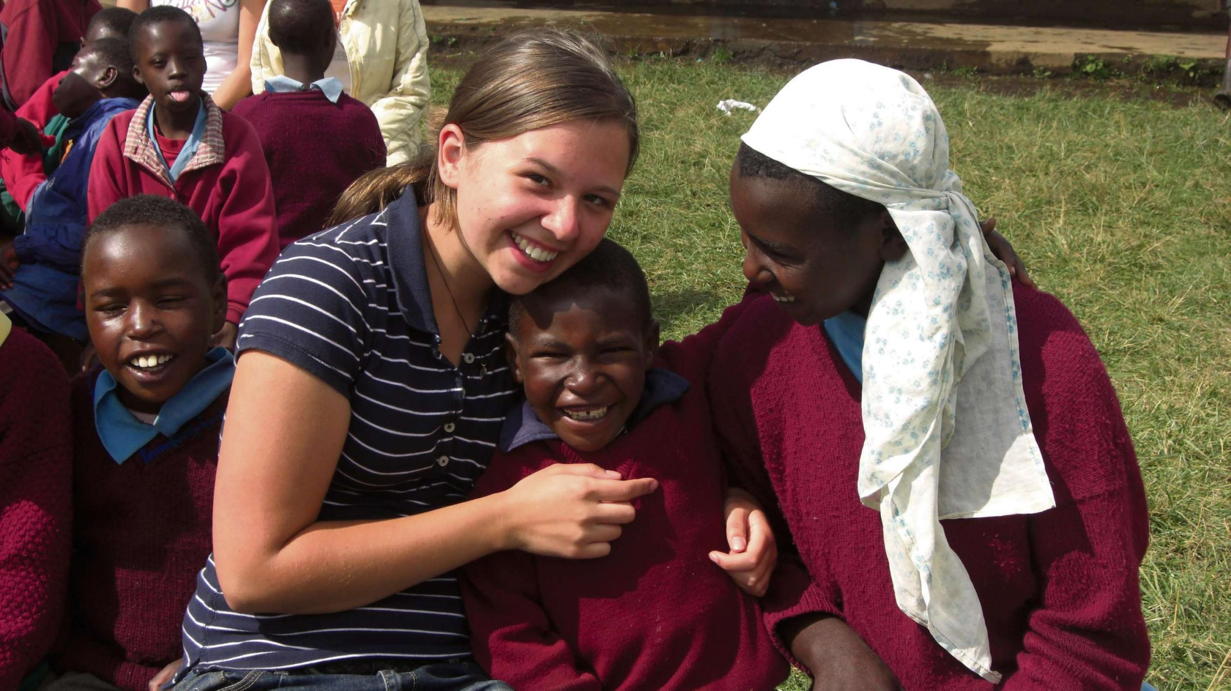 Eleanor Johns on a previous trip to Kenya, Africa