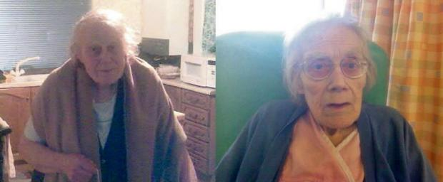 Beryl Harrington, before and after her hospital treatment. SP