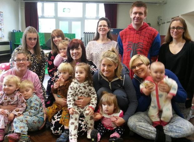 ONESIE DAY: Members of St Stephen's Church's playgroup and Victoria's School of Dance and Performing Arts donned onesies for a day celebrating Autism West Midlands. SP
