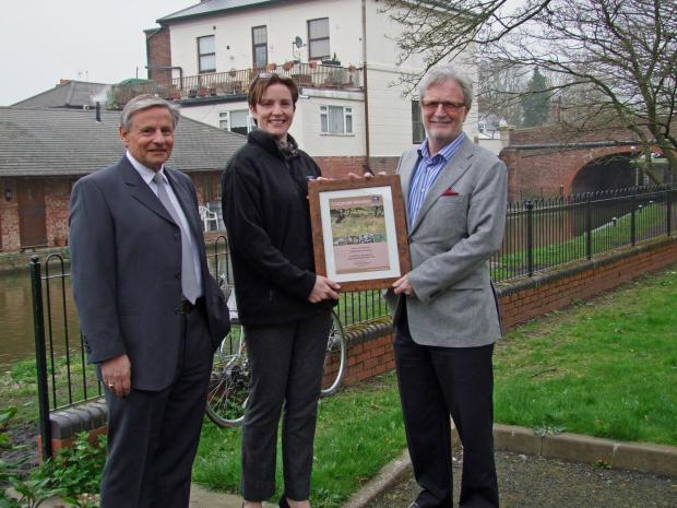 Marketing and sales director of Controlaccount Paul Husband, business development officer of Worcestershire Wildlife Trust Delia Shannon and founder and chairman of Contolaccount Graham Ball