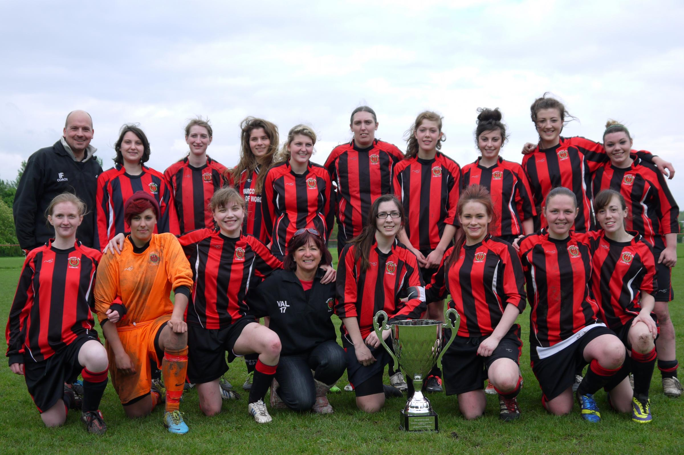 Champions: Droitwich Spa Ladies have won the Worcestershire Women's County League and earned promotion.