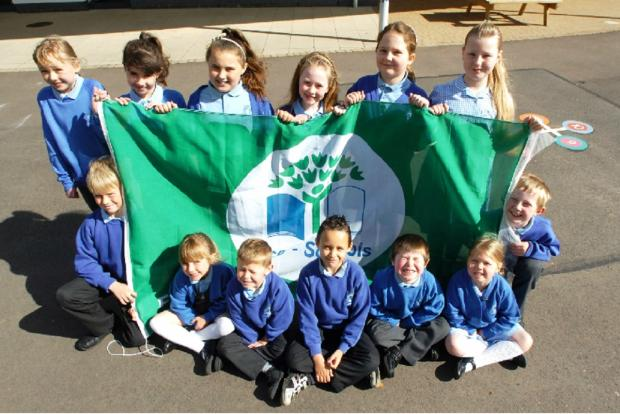 Sidemoor First School youngsters have been celebrating the school receiving a third Green Flag award. Buy this photo BMM191404