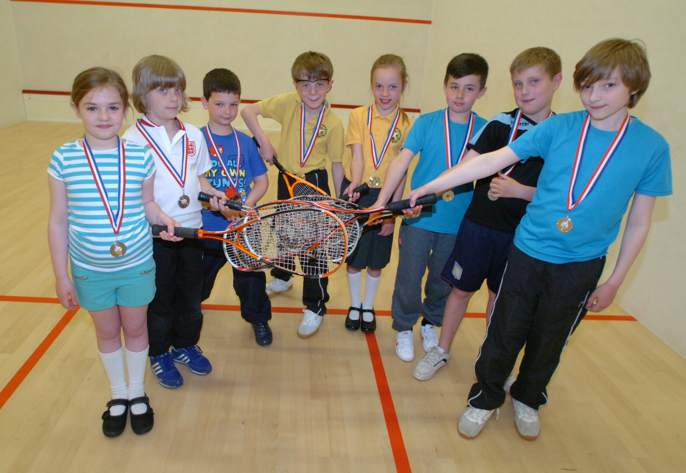 Pupils from St Andrews First School savour winning their tournament. Picture: MARIE MYERS