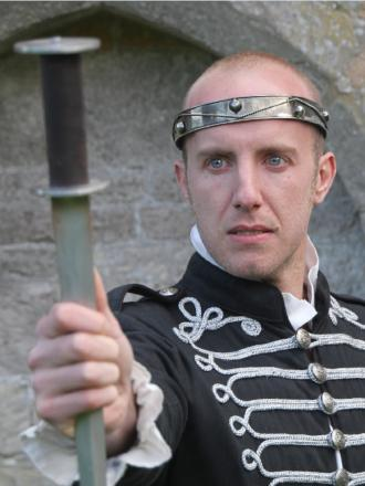 TRAGEDY: Matthew Springett, in the title role of Macbeth, will be performing at St John's Church in June. SP