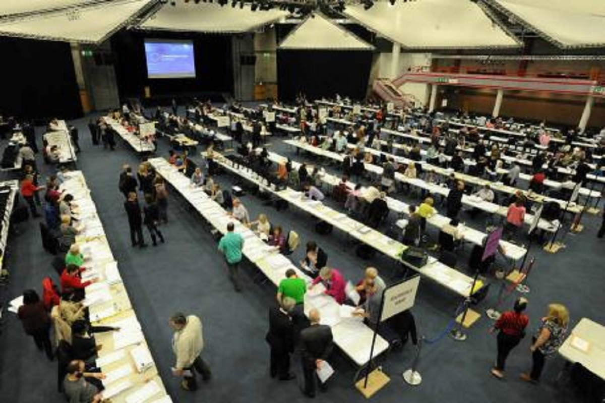 COUNT: The count for the West Midlands region took place on Sunday night, (May 25).