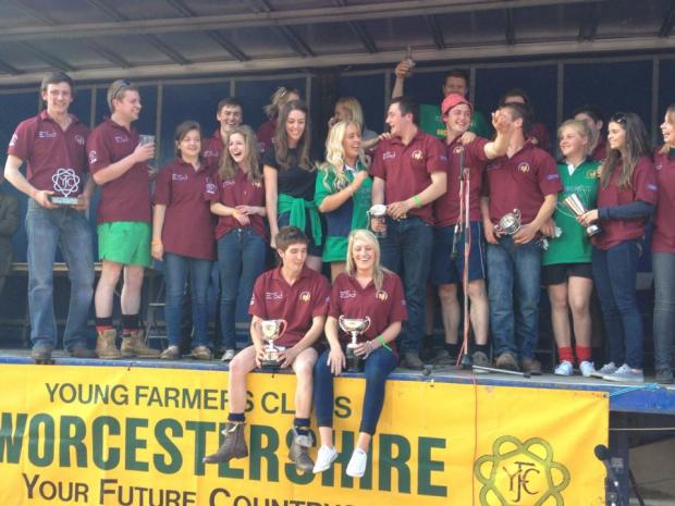WINNERS: Bromsgrove Young Farmers Club scooped the Championship Cup at Worcestershire Federation of Young Farmers Club's show. SP