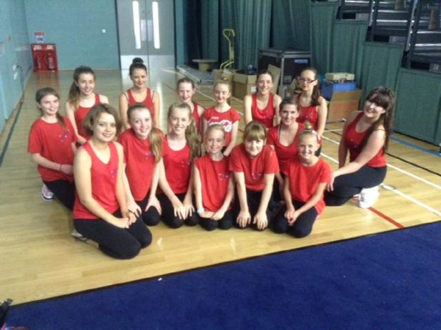 PERFORMANCE: Talented youngsters from a Bromsgrove dance school enjoyed performing in front of a large crowd at a Worcester arena. SP