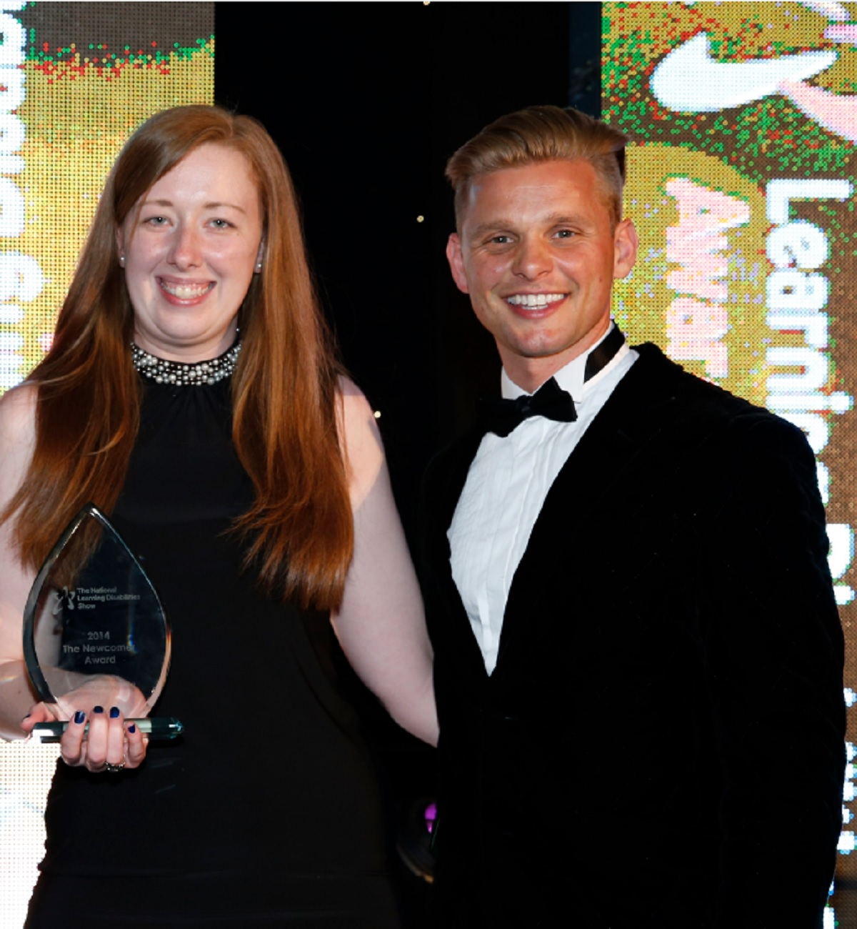 AWARD: Care home worker Holly Turner has received a National Learning Disabilities Awards. Pictured with television presenter Jeff Brazier, who hosted the evening. SP
