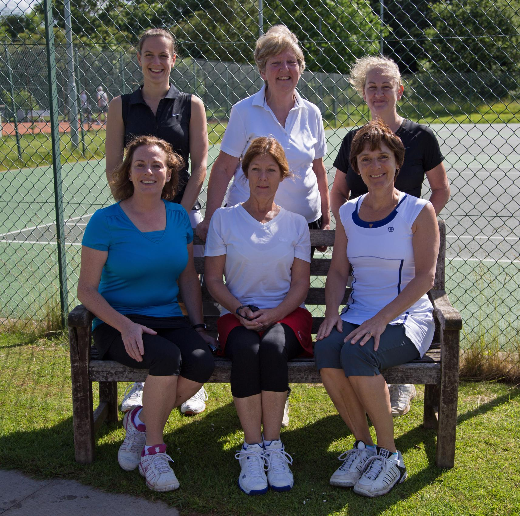 Bromsgrove Ladies C: Back row: Lisa Rushton, Sheila Richardson and Lorraine Russel. Front row: Sue Murray, Sue Forrest and Anne Simper.