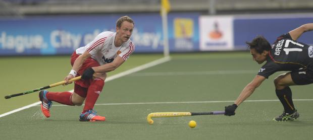 Final four: England's Dan Fox in action against Belgium at the Rabo