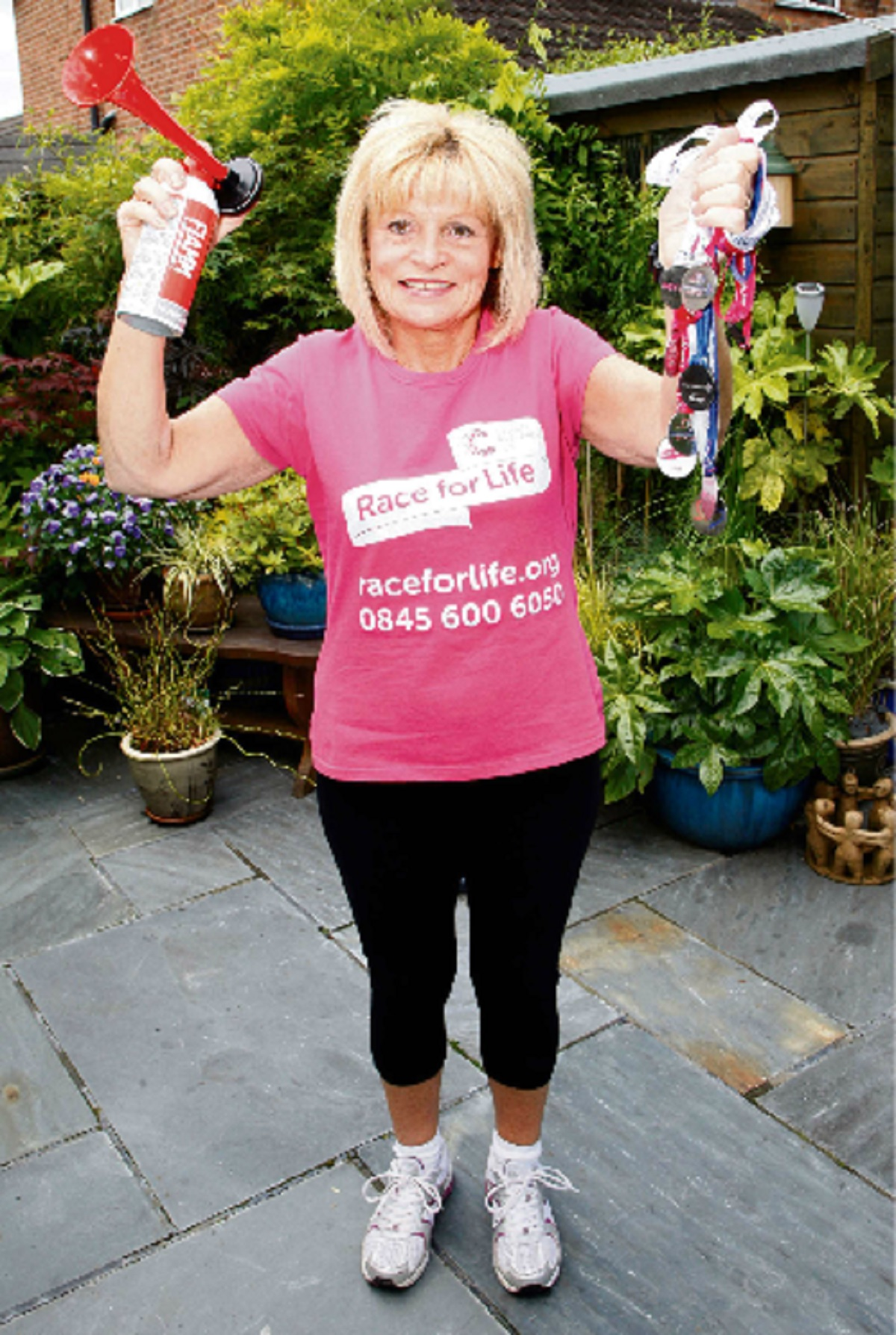 Bromsgrove breast cancer survivor Lorrayne Edwards is taking part in her ninth Race for Life event.  Buy this photo BCR241402_01
