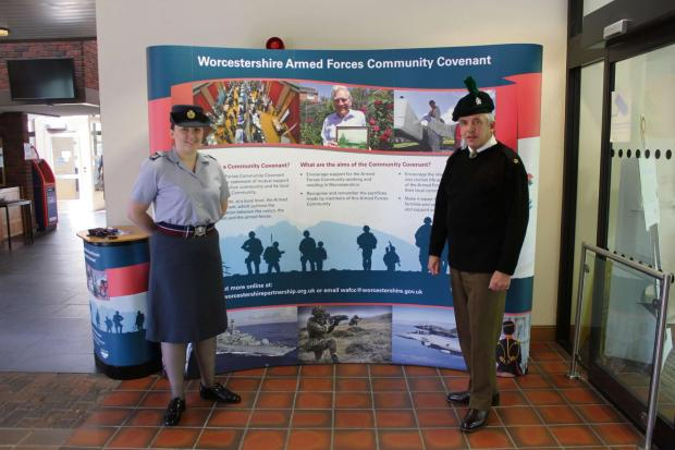 Staff at Worcestershire County Council wore uniforms with pride as part of the celebrations for Armed Forced Forces Day, which was on Saturday.