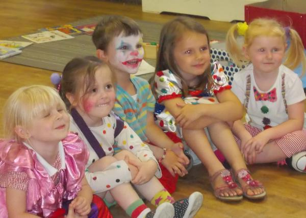 CLOWNING AROUND: Children from Jellybabies Nursery and Pre-School have been clowning around. SP