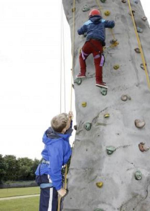 FUNDRAISING BOOST: Hagley summer fete boosts climbing wall funds. SP