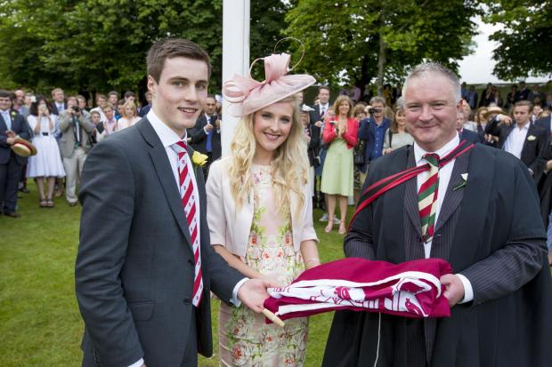 Bromsgrove Advertiser: Heads of school Samuel Leather and Emily Taylor with headmaster Chris Edwards.