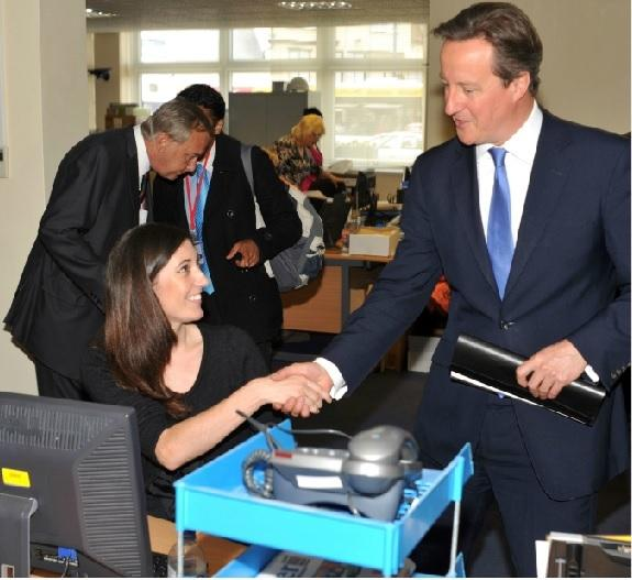 PM David Cameron with A