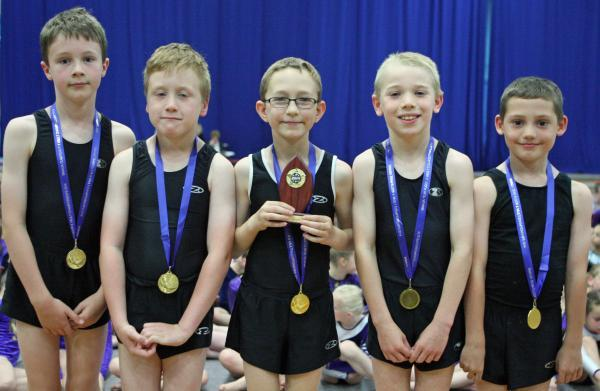 Youngsters from Bromsgrove Gymnastics Club.
