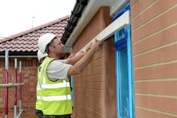 ENERGY SAVING: BDHT is installing external wall insulation to Sidemoor homes to make them more energy efficient. SP