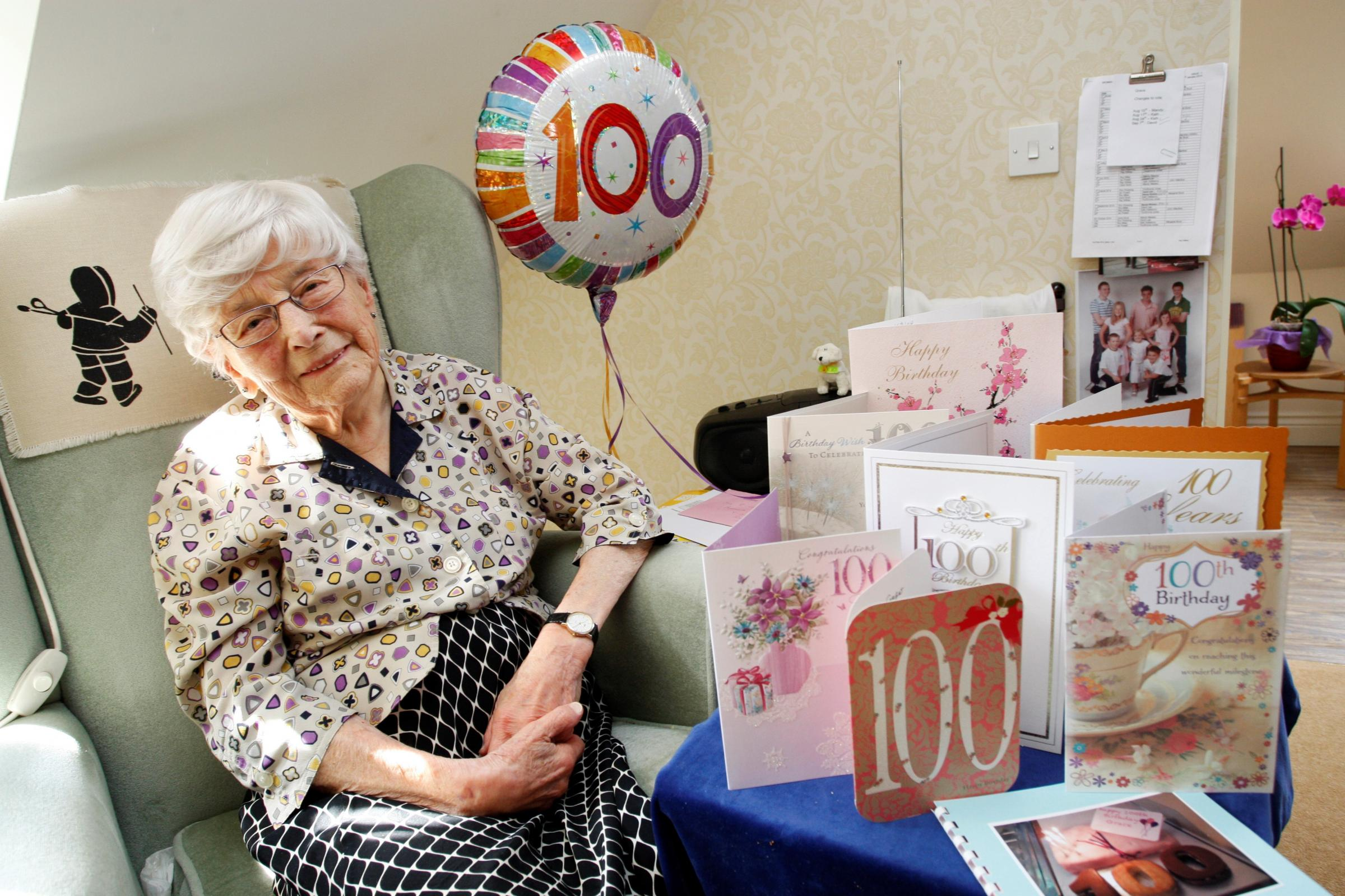 Grace Cooper celebrated her 100th birthday at Burcot Grange