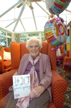 Gerturde 'Trudy' Cluderay is celebrated her 100th Birthday.