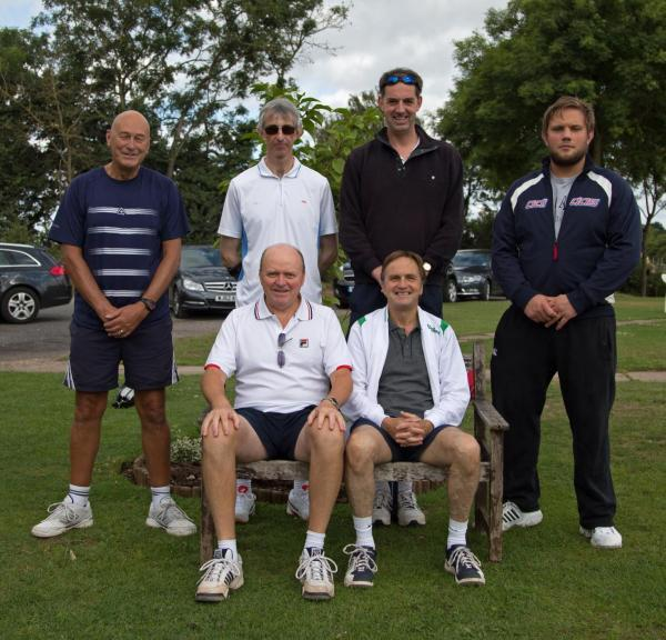 Bromsgrove's Men's C Team. Back row (left to right): Andy Hewston, Mark Blake, Tim Wright and Chris McGregor. Front row: John Casey and Trevor Errington.
