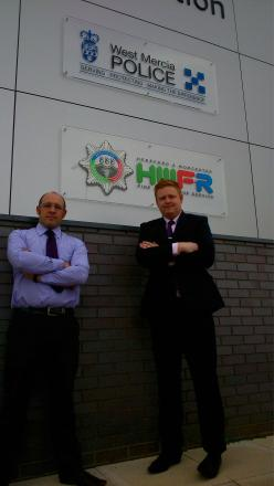 Chris Bloore and Rory Shannon have condemned the decision to not have a counter service in Bromsgrove's new police station.