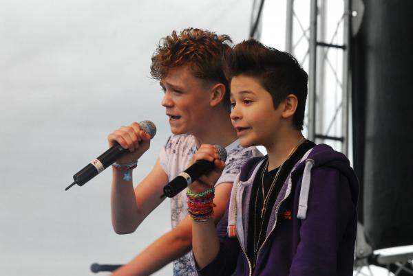 BANK HOLIDAY FUN: Teen rappers Bars and Melody at Upton's Sunshine Festival