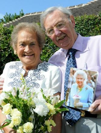 DIAMOND COUPLE: Sheila and Rex Trueman, from Catshill, celebrated their diamond wedding anniversary on Thursday, (August 21).  Buy this photo BLB351402