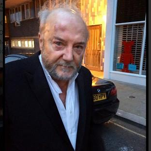 George Galloway on his way to hospital after being attacked in London (Twitter/Respect Party)
