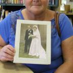 Bromsgrove Advertiser: Kath Adams with the mystery photograph. SP