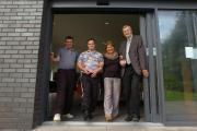 The Artrix now has a new sliding door entrance to provide better access for those with disabilities. From left: David Bird and Chris Finch from Amber support services with Artrix director Ros Robins and councillor Anthony Blagg. Buy picture, BMM401403, at