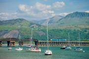 The Cambrian coastal line enters Barmouth - picture by Robert Pullan