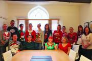 JUMPERS FUNDRAISER: Staff at Gough Bailey Wright wore their Christmas jumpers for a fundraiser. SP