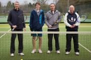 Mark Blake, Jack Walters, Pete Morris and Tim Roland from Bromsgrove Tennis Men's D team.