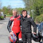 Bromsgrove Advertiser: I'm a Celebrity winner Carl Fogarty and Top Gear star Richard Hammond led from the front after joining thousands of other bikers at a charity rally.