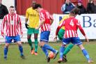 Sam Wills in action for Bromsgrove Sporting against Bolehall Swifts. Picture: MIRIAM BALFRY