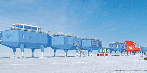 Recruitment drive – the British Antarctic Survey is on the hunt for trades people to help its five research stations run smoothly. Seen is its newest research station, Halley