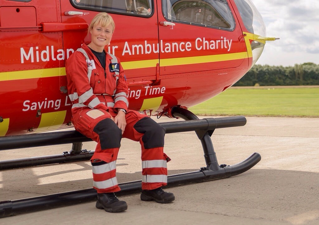 Air Ambulance paramedic Karen Baker who is taking part in the Bear Grylls Survival Challenge to raise money for the charity